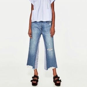Zara TRF denim IX'D makers wide leg jeans 8